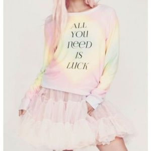 NWT Wildfox All You Need is Luck S